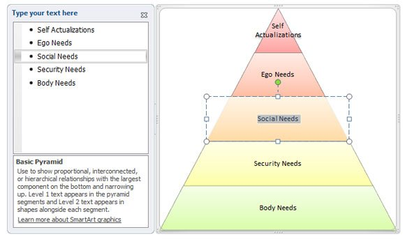 how to create a maslow u0026 39 s pyramid of needs in powerpoint