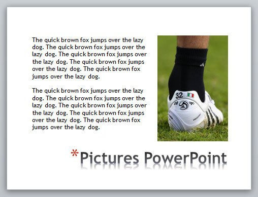 power point slide how to create disorganised text