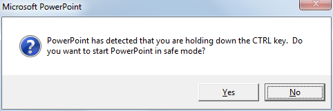 PowerPoint in Safe Mode