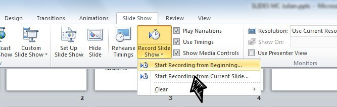 record timing powerpoint