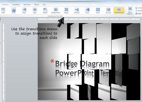 Adding animated transitions to powerpoint slides powerpoint 2010 comes with enhanced transitions and animations toneelgroepblik Choice Image