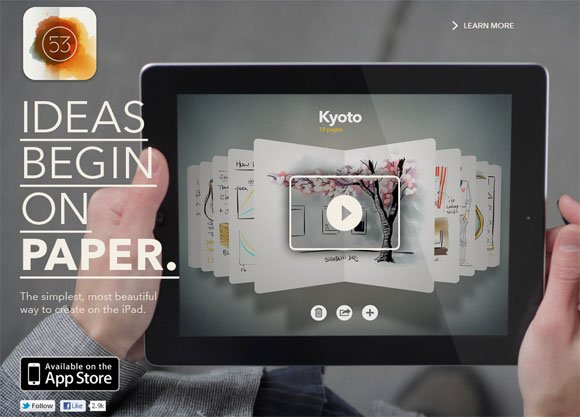 Design awesome presentations with fifty three for ipad fifty three for ipad sketches powerpoint template toneelgroepblik Gallery