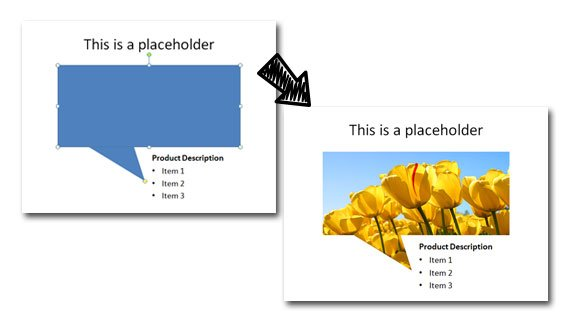 embed placeholder in PowerPoint slides