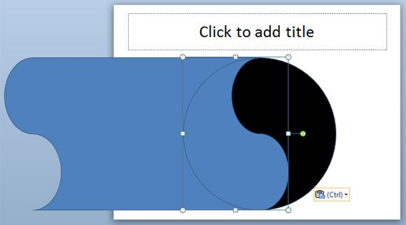 Designing a yin yang powerpoint template using shapes in powerpoint ying yang diagram toneelgroepblik Gallery
