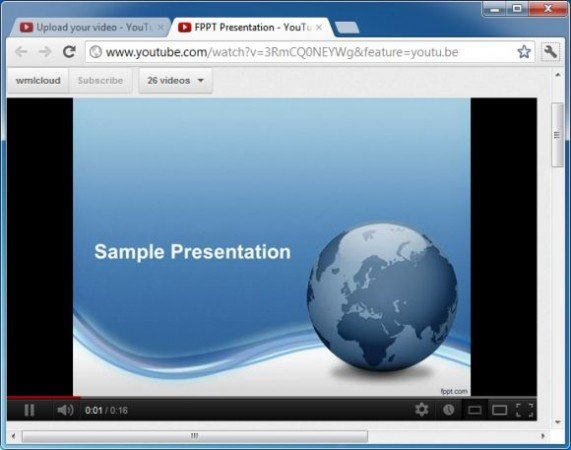 How to upload a powerpoint presentation to youtube powerpoint templates free toneelgroepblik Choice Image