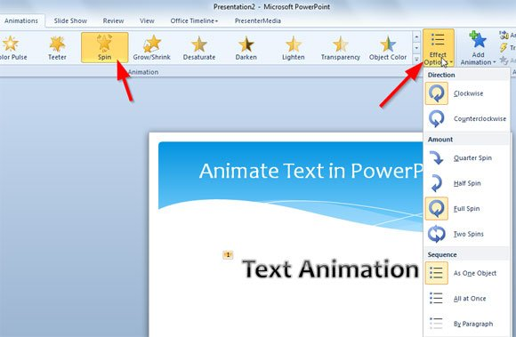 how to animate text in powerpoint slide