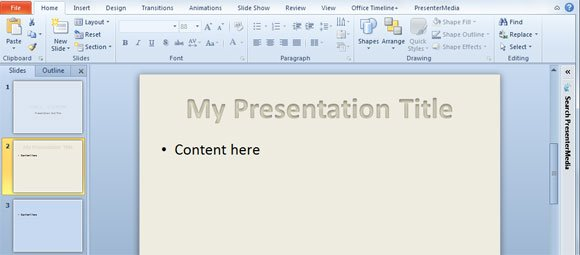 Presentation Titles example