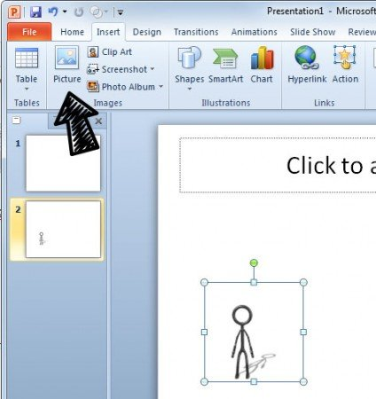 how to add a gif animation into powerpoint