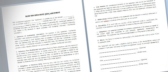 Simple NDA Template For Microsoft Word - Nda agreement template word