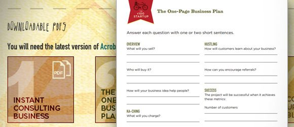 One page business plan template wajeb