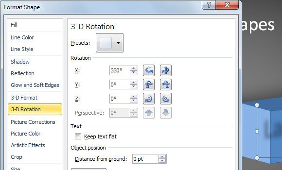 rotate powerpoint 3d
