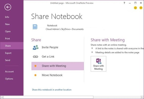 share one note powerpoint