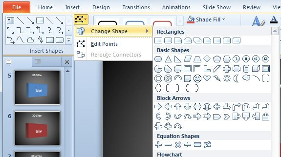 3d shapes in powerpoint