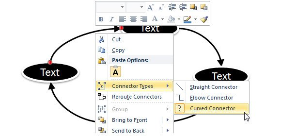 curved connector powerpoint
