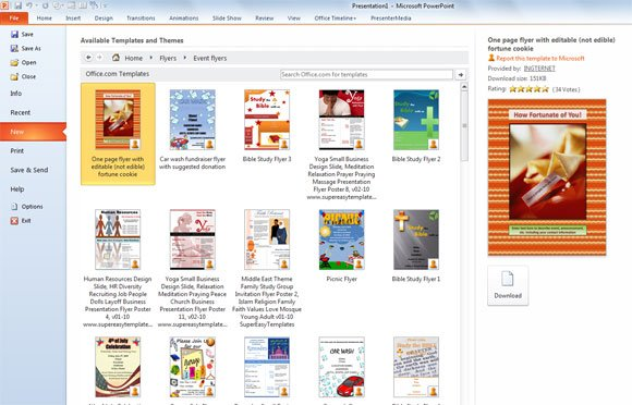 flyer templates in powerpoint 2010