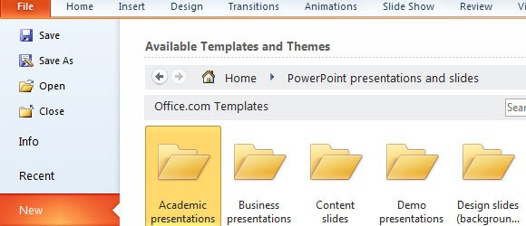access hundreds of free ppt templates in ms powerpoint 2010, Powerpoint templates