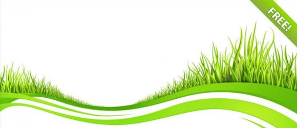 green abstract background in psd format with grass and white background tones or you can download free grass ppt templates that are ready to be used