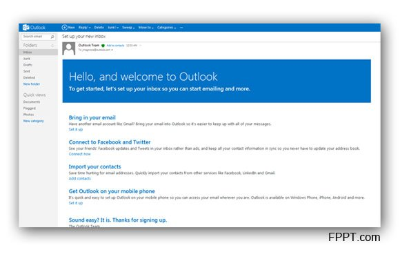 create new outlook.com account