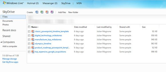 Using SkyDrive to save your PowerPoint presentations in the cloud