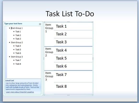 How To Make A Task List Or ToDo Powerpoint Template