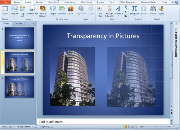 How to add transparency to a picture in powerpoint 2010 toneelgroepblik Image collections