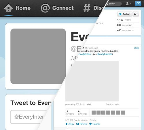 twitter profile page template for photoshop, Presentation templates