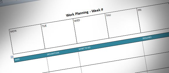 photo regarding Weekly Planning Templates identified as Weekly Developing Template for Microsoft Term (cost-free)