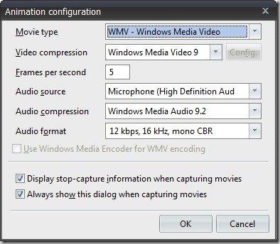 Animation configuration