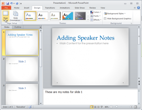 how to change the size of a powerpoint 2010 slide, Powerpoint templates
