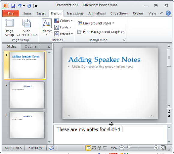 How To Add Notes To Powerpoint Slides