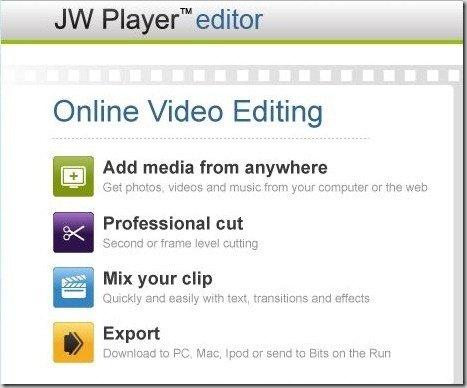 JW Player editor - Online Video Editing