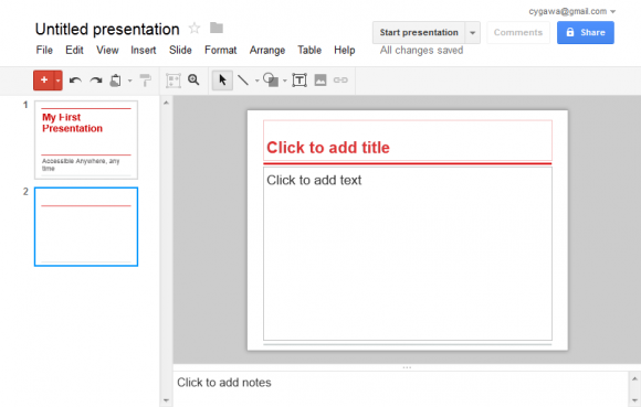 how to open powerpoint in google drive