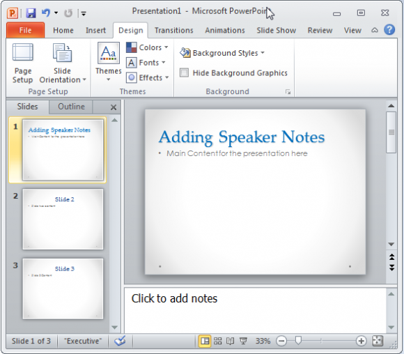 how to add slide numbers in powerpoint 2016