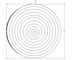 drawing an archery target in powerpoint 2010 using shapes