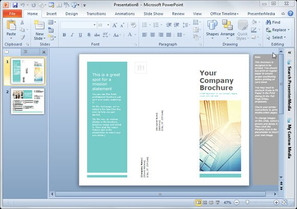 Simple Brochure Templates For PowerPoint - Information brochure template