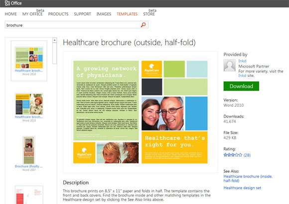 brochure templates for powerpoint presentations