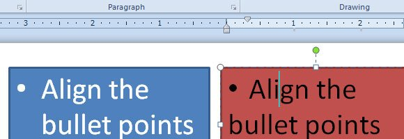 how to align bullet point powerpoint