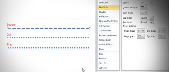 How To Insert A Dotted Line In Powerpoint 2010
