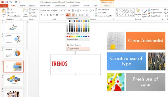 eyedropper in powerpoint 2013  office 15