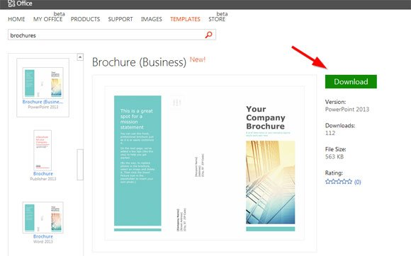 simple brochure templates for powerpoint, Modern powerpoint