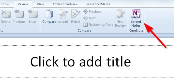 Linked Notes in PowerPoint using OneNote
