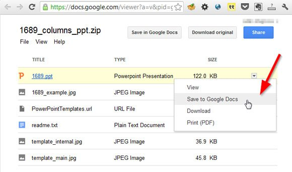 how to open powerpoint templates in a .zip using google docs, Modern powerpoint