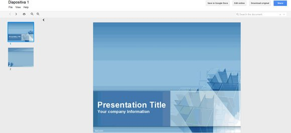 how to open powerpoint templates in a zip using google docs