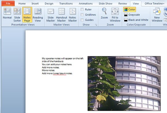 how to print speaker notes on the left side, Powerpoint templates