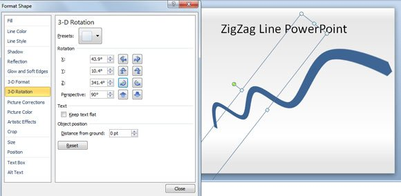 How to Make a Zig Zag Line in PowerPoint