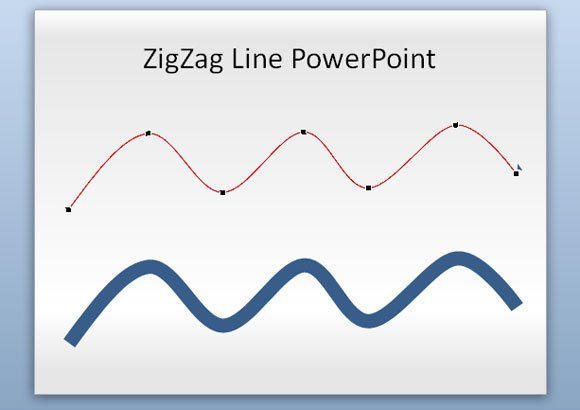 Drawing Lines In Powerpoint : How to make a zig zag line in powerpoint