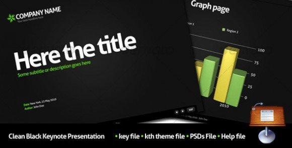 10 cheap and awesome keynote templates for presentations clean black keynote presentation toneelgroepblik Gallery