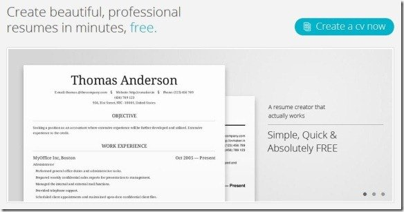create professional resumes and share them online with cv maker, Powerpoint templates