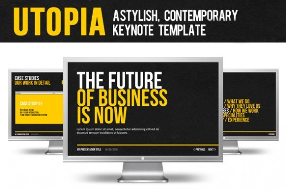 10 cheap and awesome keynote templates for presentations modernist keynote presentation template toneelgroepblik Choice Image
