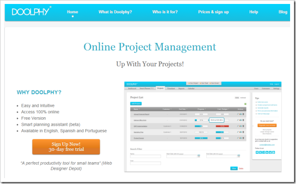 Online Project Management Software Doolphy